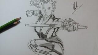 Dibujo de Viuda Negra: Civil War/ Drawing Black Widow: Civil War