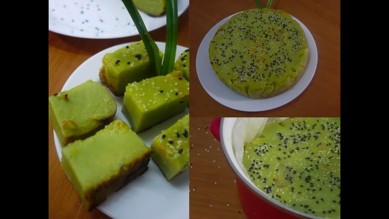 Easy Pandan Baked Cake Kuih Bingka Pandan Sukatan Cawan Tanpa Pewarna Dari Dapur