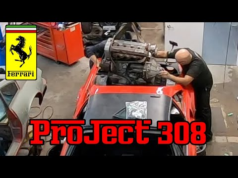 1978 Ferrari 308 GTS.  How to remove a Ferrari 308 engine.