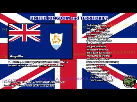 Anguilla National Song GOD BLESS ANGUILLA with vocal and lyrics