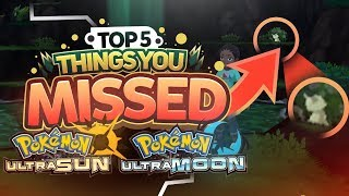 TOP 5 EASTER EGGS IN POKEMON ULTRA SUN AND MOON | References and Things you Missed