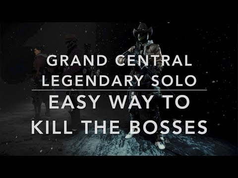 The Division 1.8.1 - GRAND CENTRAL LEGENDARY SOLO - HOW TO CLEAR THE BOSSES EASY (cheesy) AND SAFE