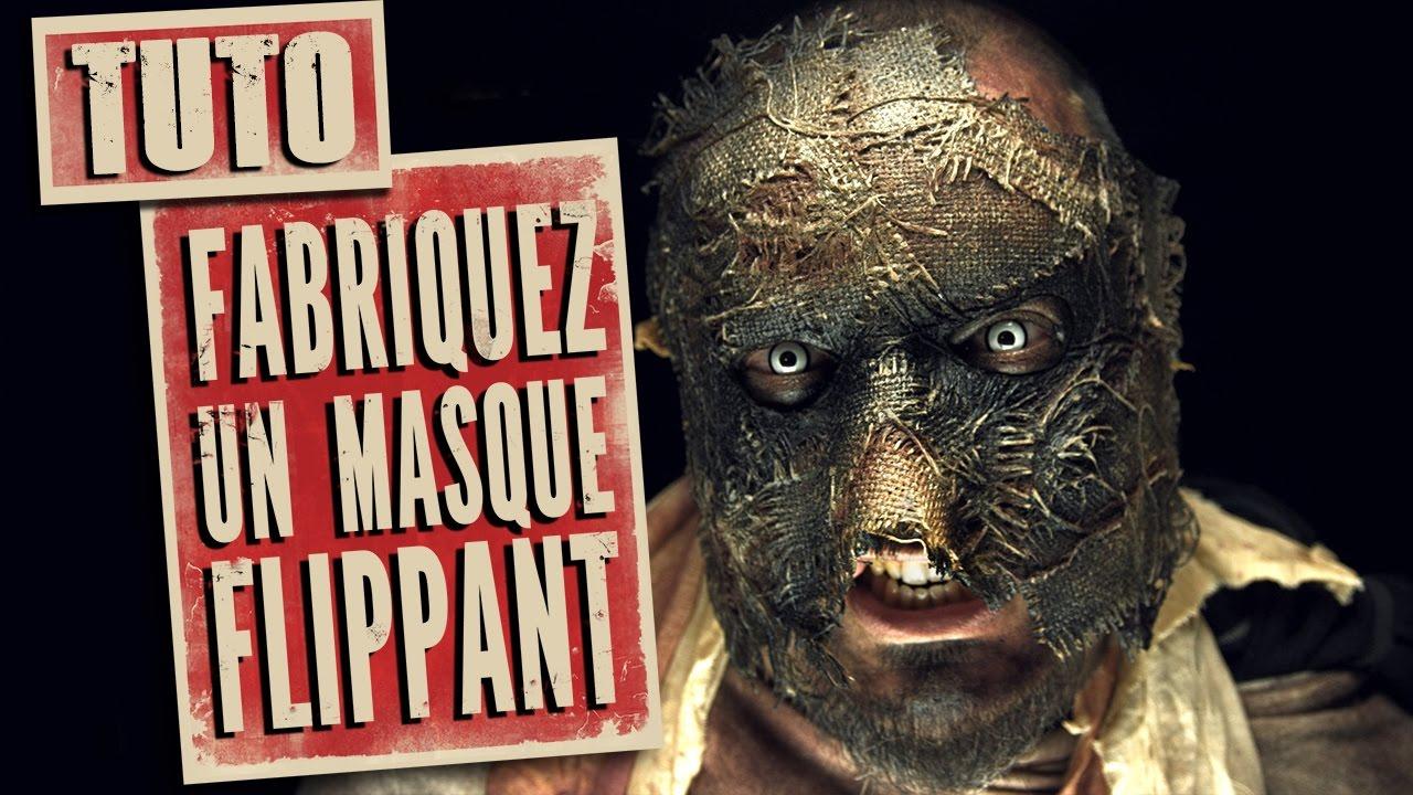 comment faire un masque d pouvantail tuto scarecrow mask youtube. Black Bedroom Furniture Sets. Home Design Ideas
