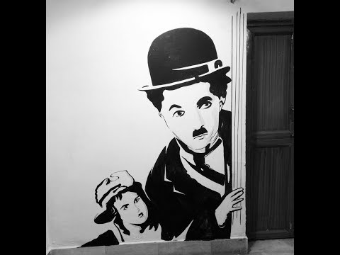 Charlie Chaplin – Wall art | Charlie chaplin time lapse painting | Charlie Chaplin