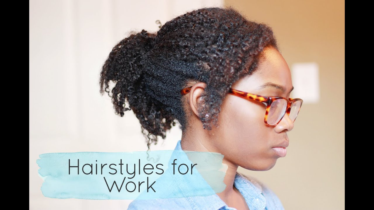 how to style your hair for work 4 easy hairstyles for work ft hergivenhair 6179