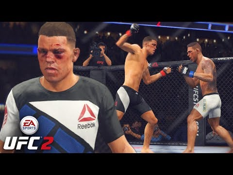 Nate Diaz Need Every Round - More UFC 2 Videos? EA sports UFC 2 Online Gameplay