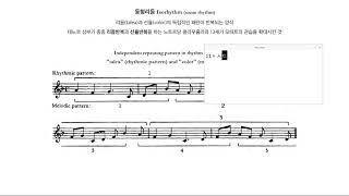 [중등음악임용고시 기출문제] 아이소리듬(Isorhyth…