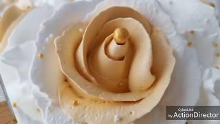 Оформление простого свадебного торта. Hochzeitstorte.👰