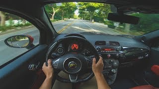 Fiat 500 Abarth (Manual) - POV Morning Drive