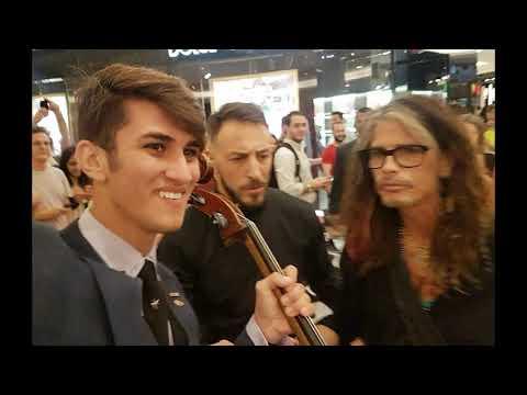 AEROSMITH - Líder da banda se encontra com músico de Rio Preto - DIÁRIO DO RODRIGO LIMA