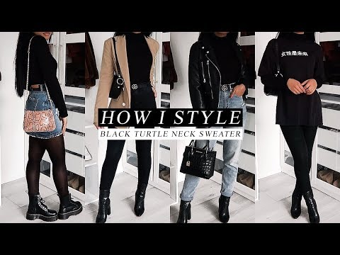 HOW I STYLE | black turtle neck sweater.