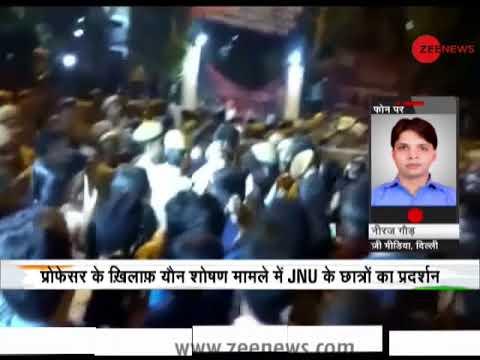 Deshhit: Clash between JNU students and policemen outside Vasant Kunj Police Station
