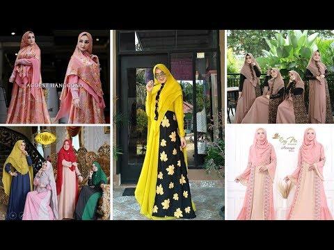 Model2 Baju Gamis Syari Elegan Terbaru 2019 Untuk Gaya Busana Wanita Muslimah Masa Kini