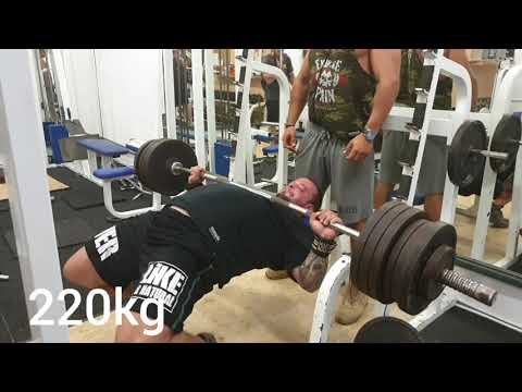 Benchpress 220kg 4x1 stop - press