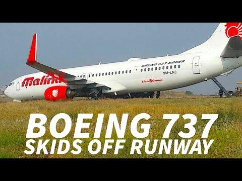 BOEING 737 Skids OFF RUNWAY in NEPAL