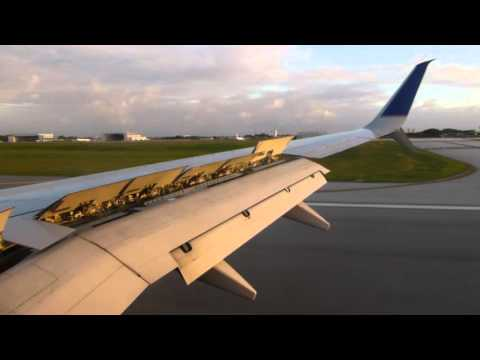 Landing at Guam in an United Airlines B737