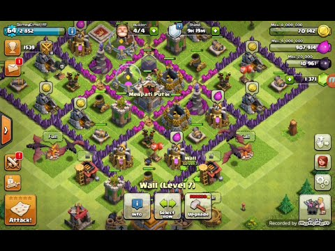 Strategi menyerang TH 7 - Clash Of Clans #1
