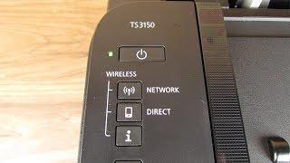 Принтер Canon установки TS3150 бездротової технології WPS