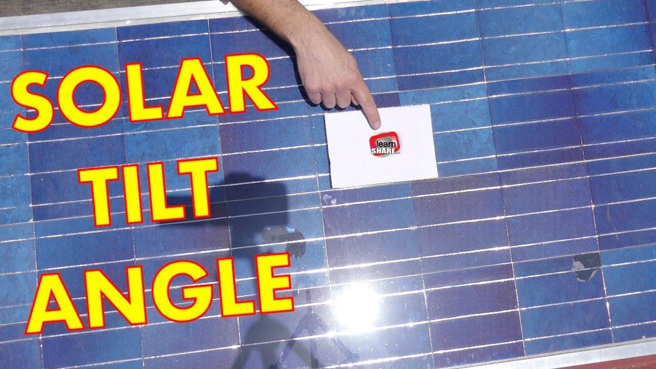 Diy Solar Panel Best Angle For Solar Panels Optimum Tilt