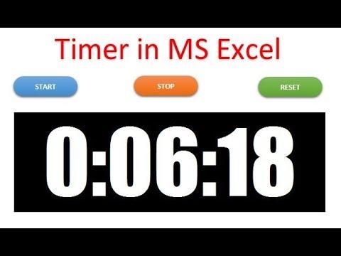 Timer in Excel VBA
