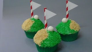 Hole-in-one Golf Cupcakes