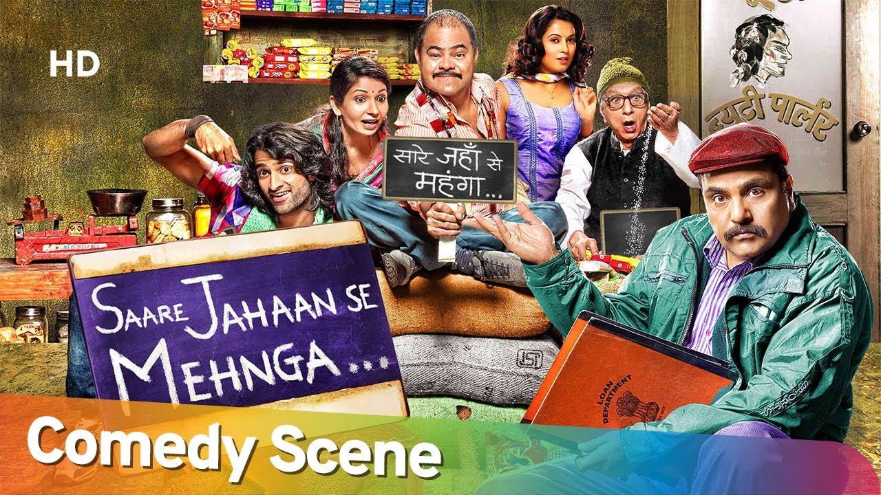 Best Hindi Comedy Scene of Superhit Movie Saare Jahaan Se Mehnga | Sanjay Mishra - Zakir Hussain