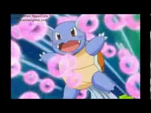 Squirtle evolves into Wartortle