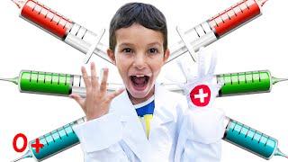Стефан и веселые игры в Доктора. Игровой набор Я Доктор. Виртуальная Больница для Детей врач уколы