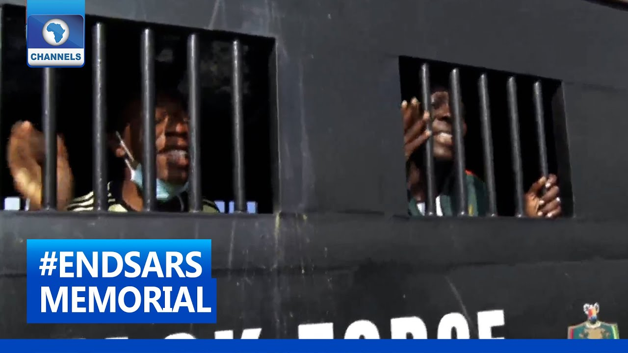 Download #ENDSARS: Two Protesters Arrested As Memorial Procession Holds At Lekki Tollgate