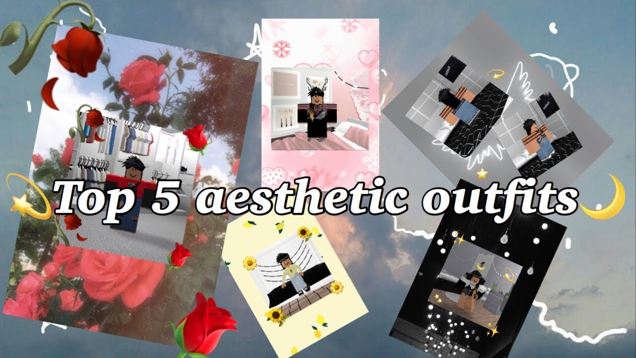 My Top 5 Aesthetic Outfits Roblox YouTube