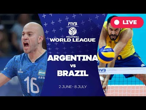 Argentina v Brazil - Group 1: 2017 FIVB Volleyball World League