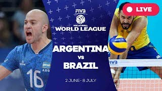 Video Argentina v Brazil - Group 1: 2017 FIVB Volleyball World League download MP3, 3GP, MP4, WEBM, AVI, FLV Oktober 2017