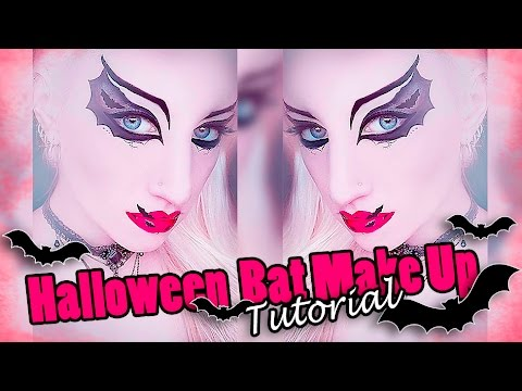 Halloween Fledermaus Makeup Tutorial Halloween Bat Makeup I