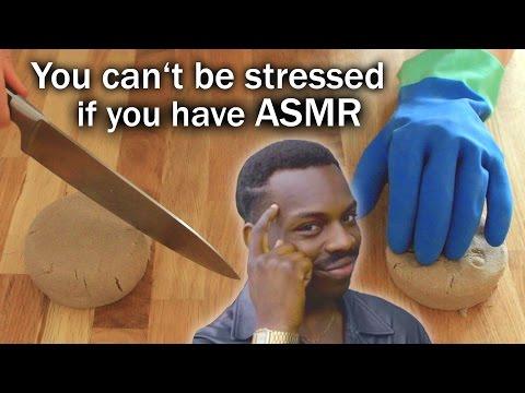 ASMR Kinetic Sand ✦ Stroking, Brushing & Crunchy Cutting (no talking)
