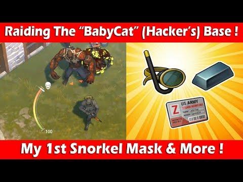 "Raiding The ""Babycat"" Hacker's Base (1st Snorkel Mask)! Last Day On Earth Survival"