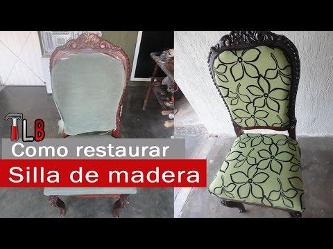 Como restaurar un sill n frailero doovi - Restaurar una silla de madera ...
