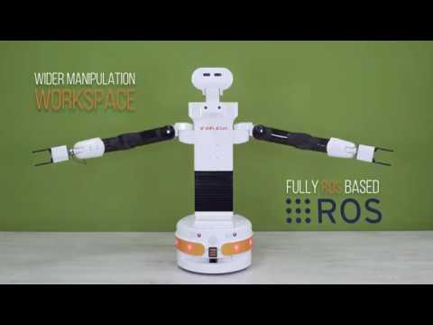 TIAGo++ robot from PAL Robotics ready for two-armed tasks