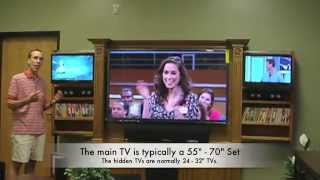 Triple Play™ Wall Unit, Three Tv Custom Entertainment Center