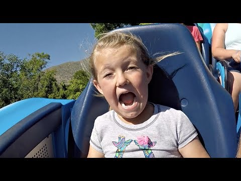 FUNNY ROLLER COASTER RIDE! | KIDS REACT!