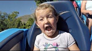 TRAUMATIC ROLLER COASTER RIDE! | KIDS REACT!