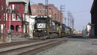 Norfolk Southern Train 19G Gets One BUMPY Ride!!!