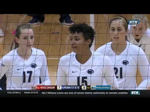 Penn State vs Wisconsin Women s Volleyball HD 2015 09 23