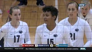 Penn State vs Wisconsin Women s Volleyball HD 2015 09 23