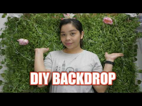 DIY BACKDROP using ARTIFICIAL GRASS AND CARDBOARD