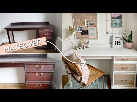 Desk Makeover DIY for Back to School | Office Styling