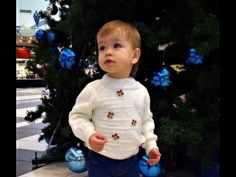 Детский свитер для мальчика спицами фото