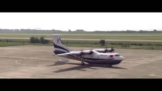 China's large amphibious aircraft AG600 successfully conducted its 1st glide test in S. China