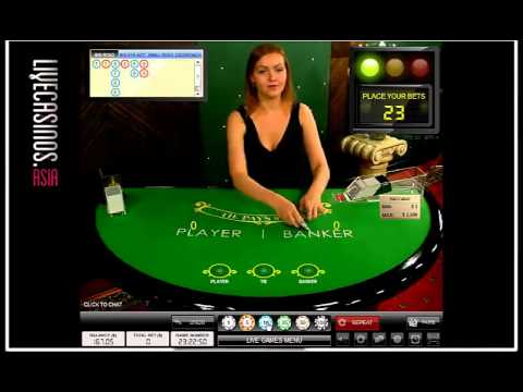 888 Casino Live Baccarat Youtube