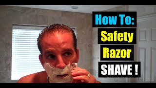 Best How to Shave with a Safety Razor Shaving Tutorial Merkur HD 34C Geofatboy