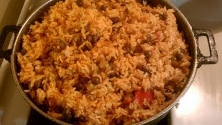 Arroz Con Gandules ~ Yellow Rice With Pigeon Peas